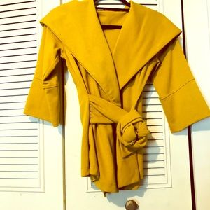 3/4 sleeve Mustard Yellow Sweater